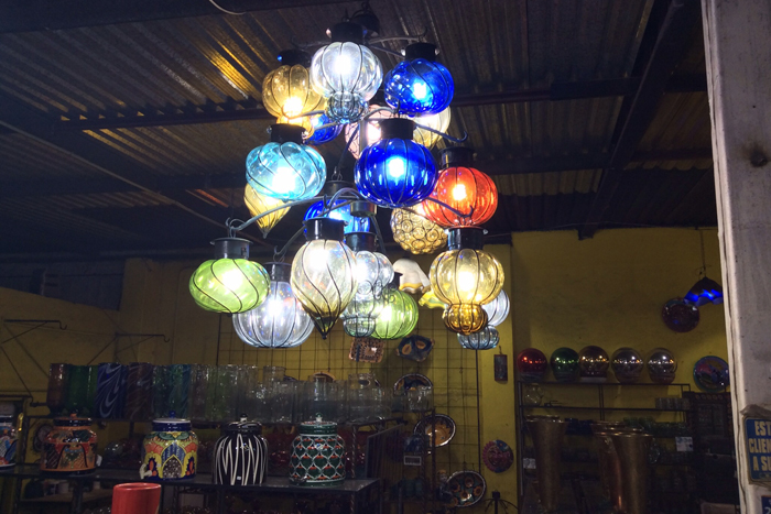 Great variety of Cristal Lamps at Mundo de Cristal