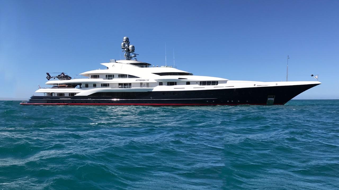 the reborn luxury yacht attessa iv visits puerto vallarta