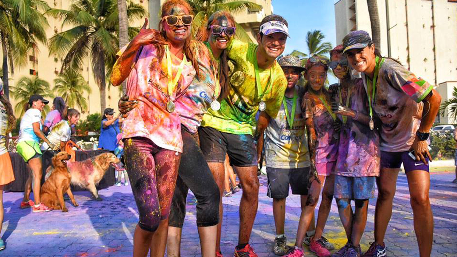 Color Running and Vallarta Color Race in Puerto Vallarta