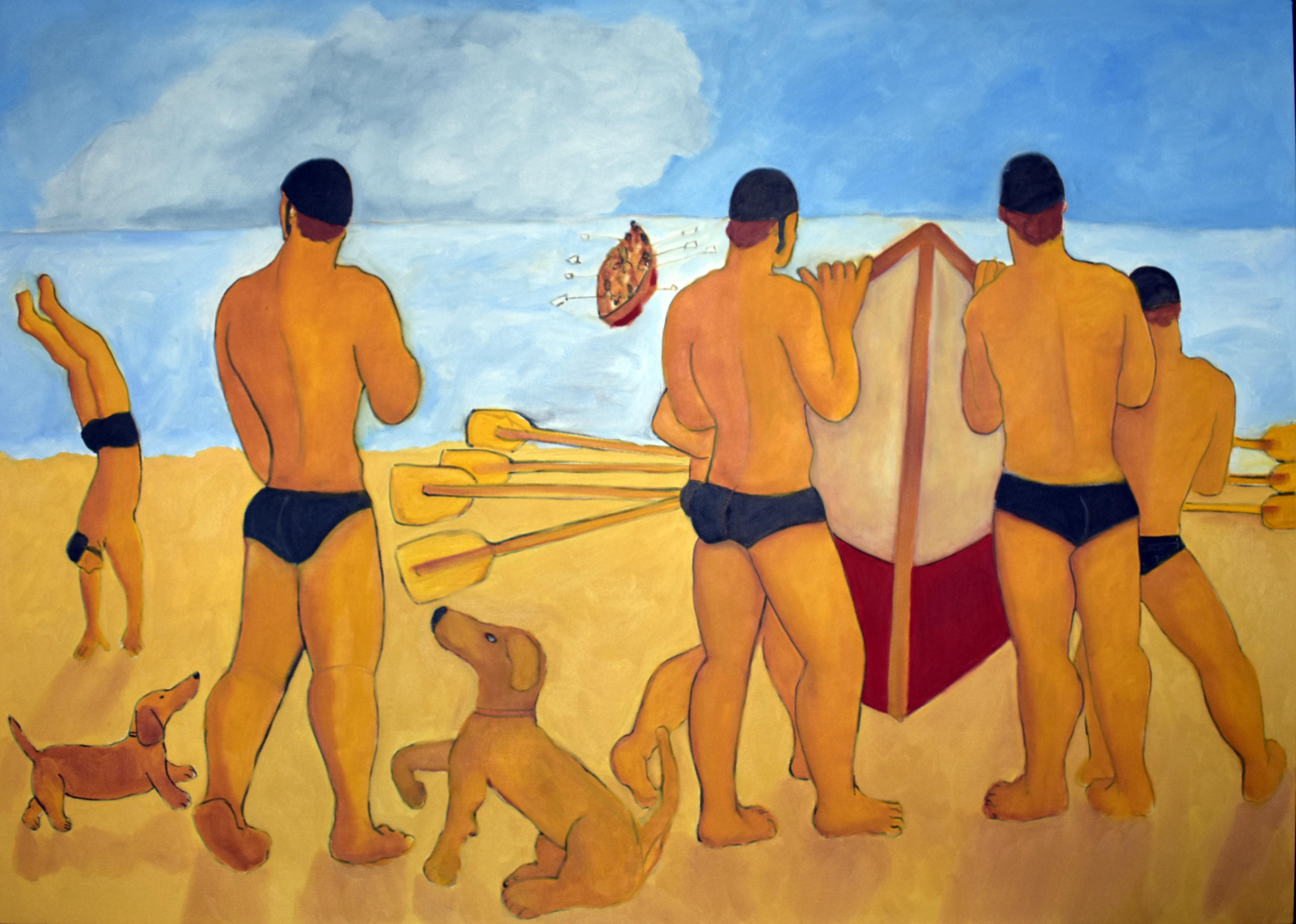"""LOS BALSEROS, oil on canvas, 47"""" x 67"""", Price: 7,500.- US dollars"""