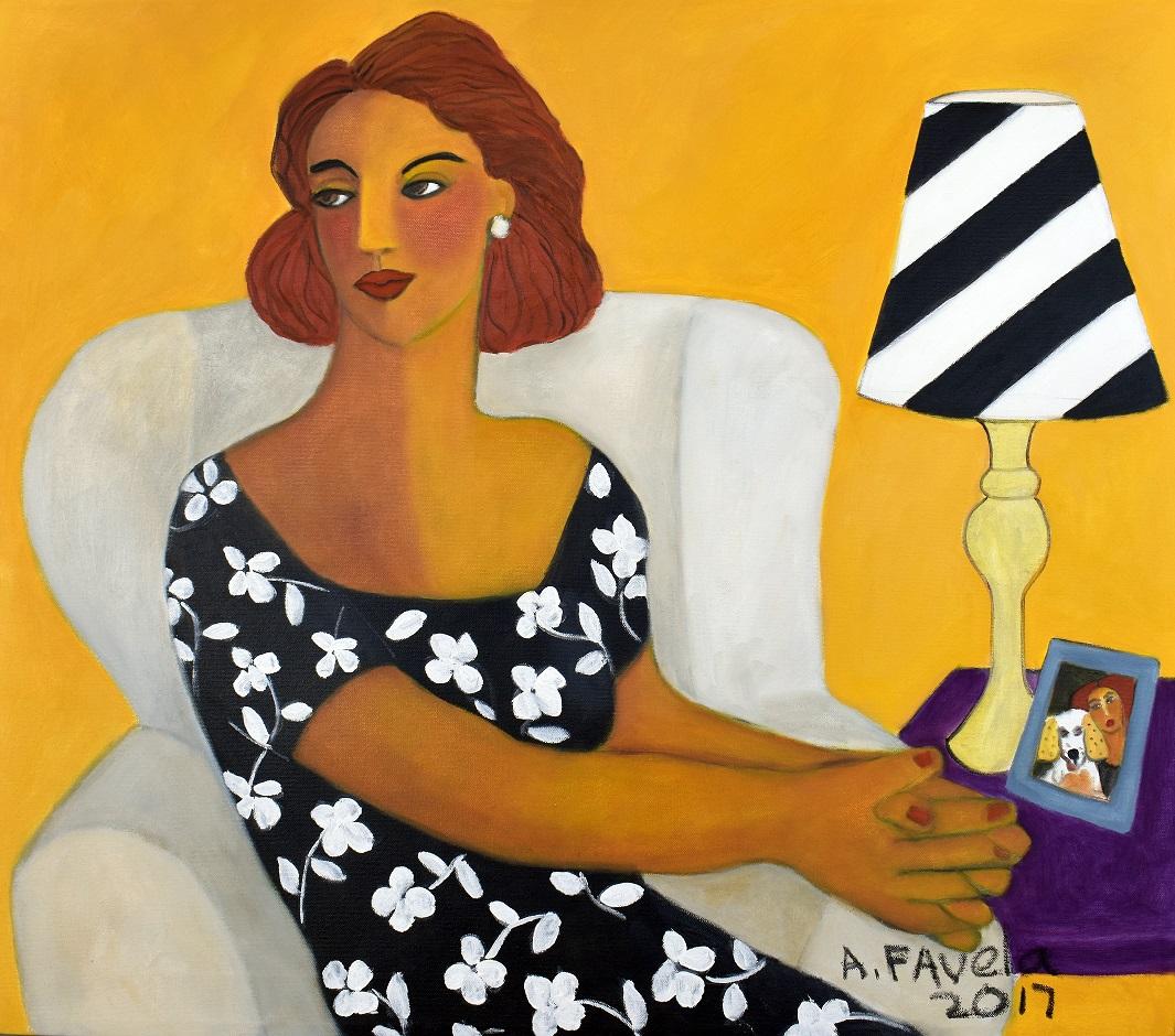 """LA SRA. KOKONOKINIS, oil on canvas, 27.5"""" x 31.5"""", Price: 3,500.- US dollars"""