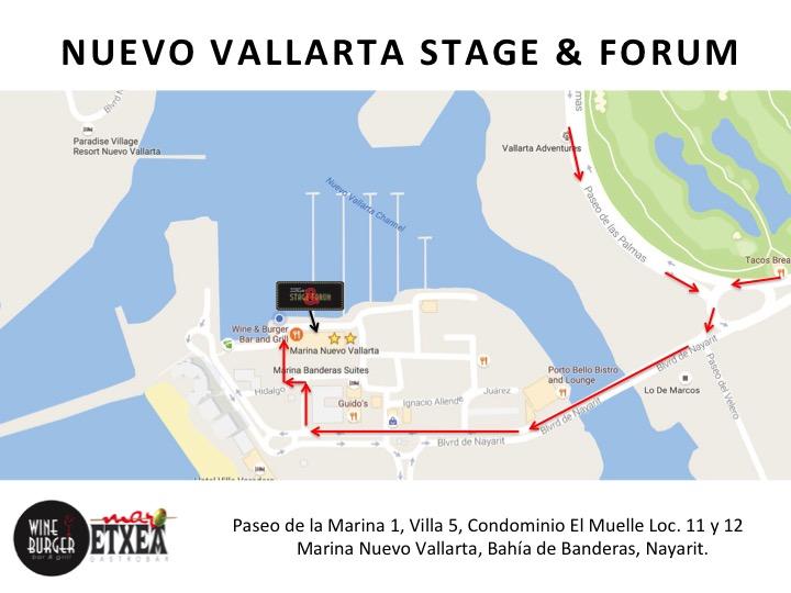 Nuevo vallarta stage map
