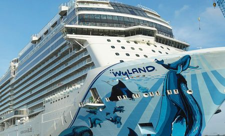 Largest Cruise Ship to Cross Panama Canal Docks in Puerto Vallarta