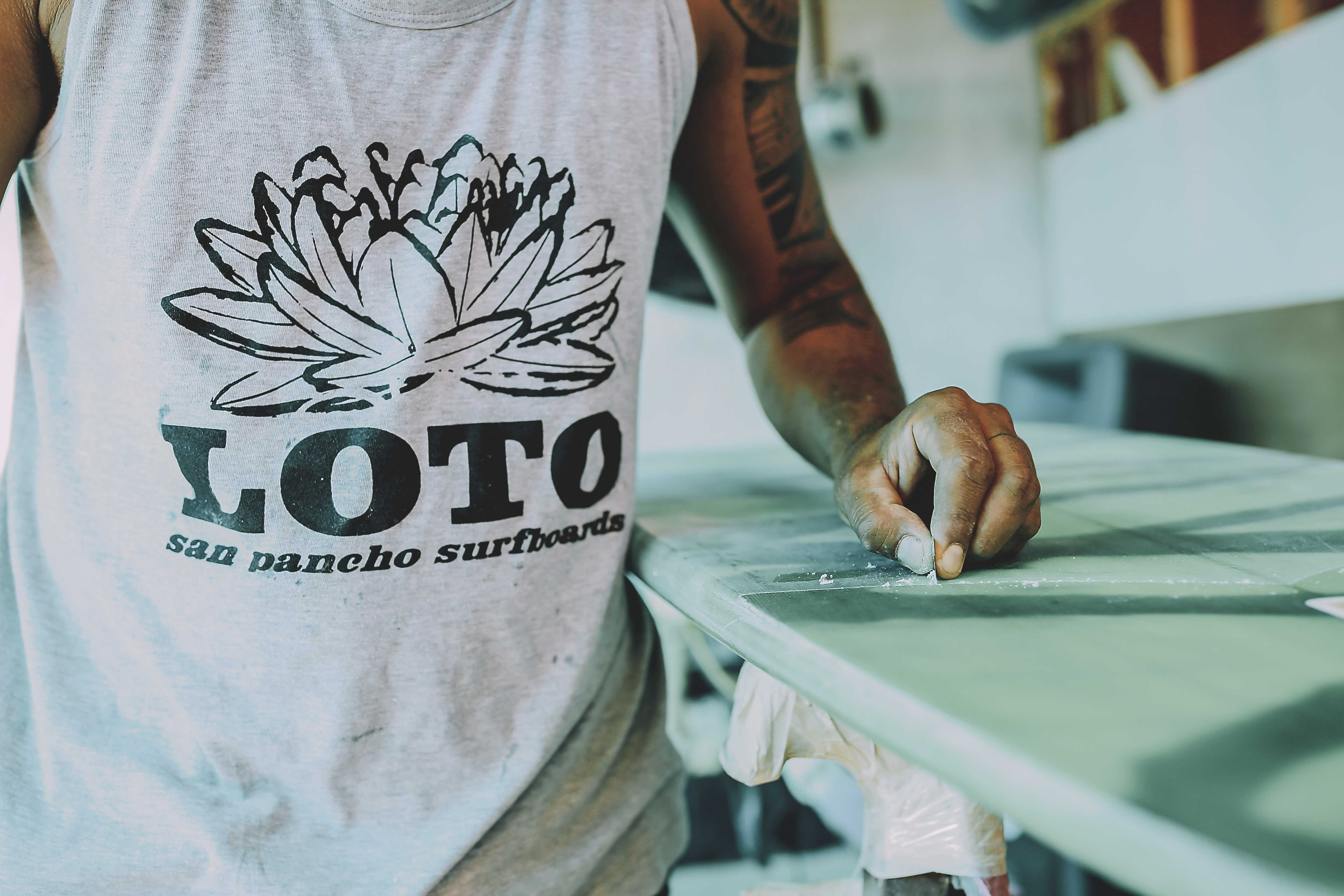 Essentials for the beach created by local talent, lotosurfboards