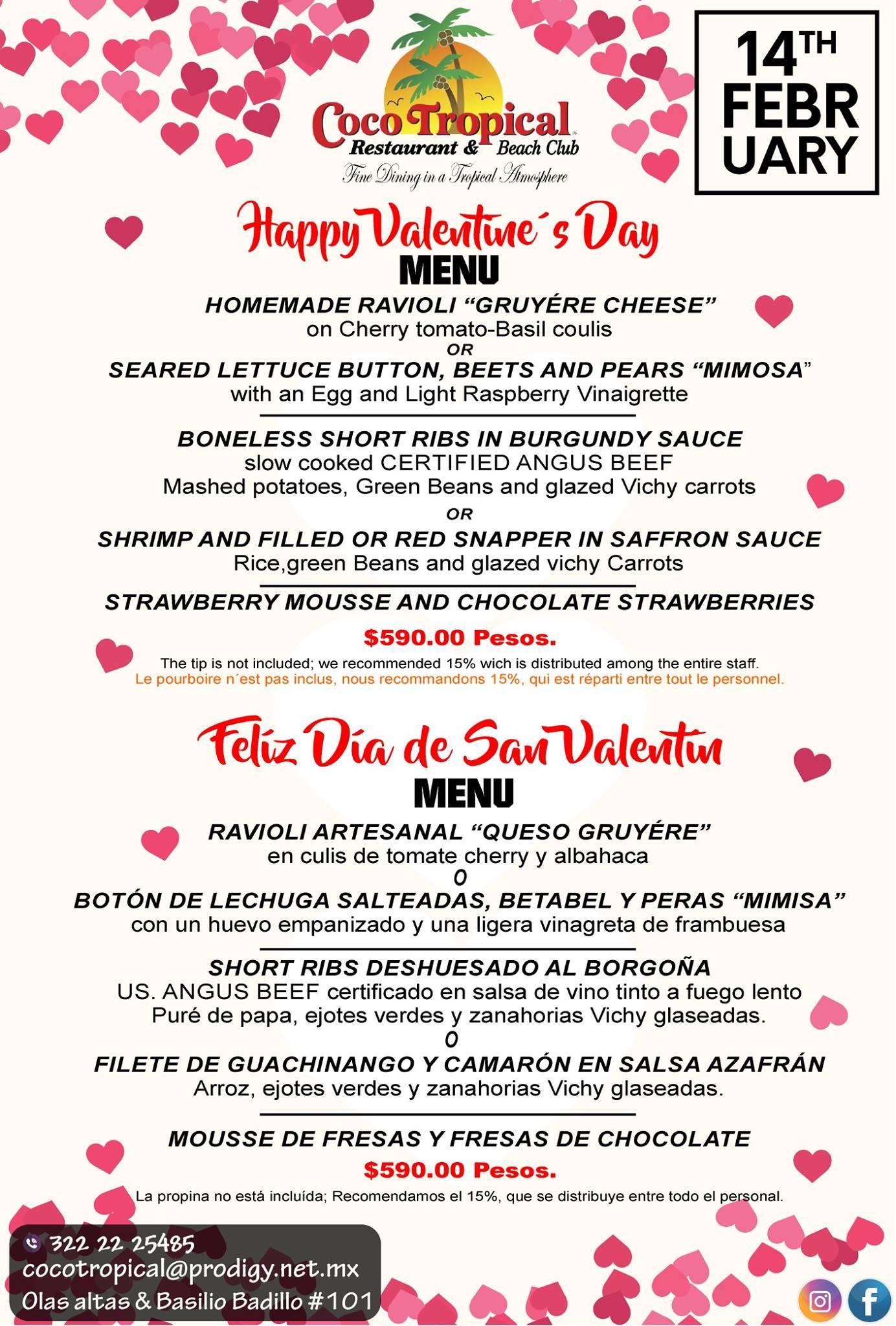 Valentine's day coco tropical