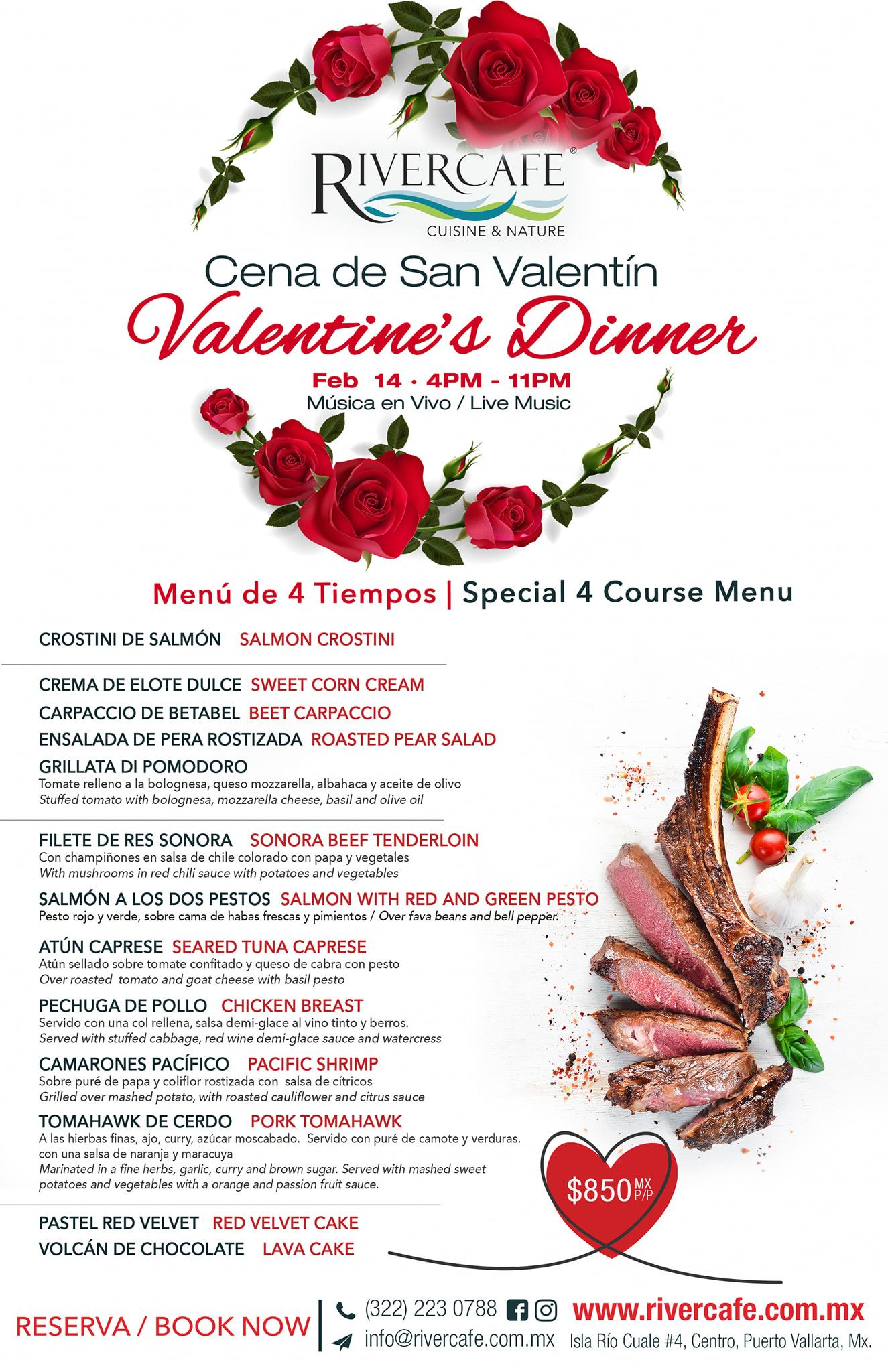 Valentine's day river café